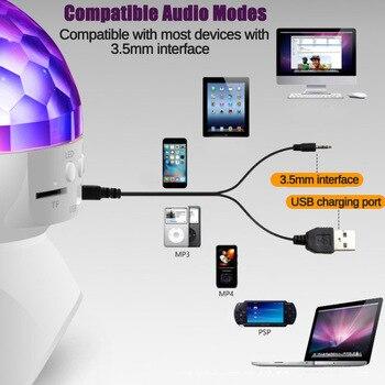 Wiederaufladbare Drahtlose Bluetooth Lautsprecher Bühne Lichter RGB LED Kristall Ball Effekt Licht DJ Disco Party Beleuchtung USB/TF/ FM Radio