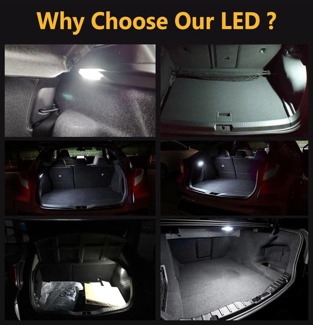 LED Luggage Compartment Interior Lights Trunk Lamp For Honda Civic Accord City CR-Z CR-V Jazz Fit Crosstour FR-V HR-V Insight 3