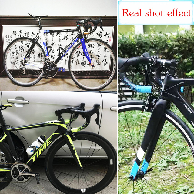 MOTSUV Road Bicycle Handlebar Tape Belt New Tetris design Cycling Handle Bar Tape Wrap Anti-slip Anti-sweat Strap +2 Bar Plugs 5