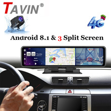 Rear-View-Mirror DVR Dash-Camera Car-Led-Video ADAS Android GPS 1080P Wifi Avi 12-Navigation