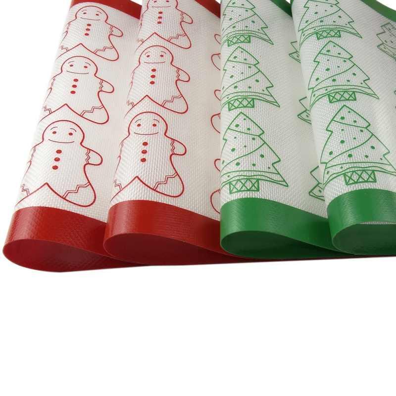 Nuovo 1pc Del Biscotto di Cottura Zerbino di Cottura Del Silicone Zerbino di Cottura Zerbino FAI DA TE Strumenti di Cottura Ad Alta Temperatura Resistenza Per Il Natale