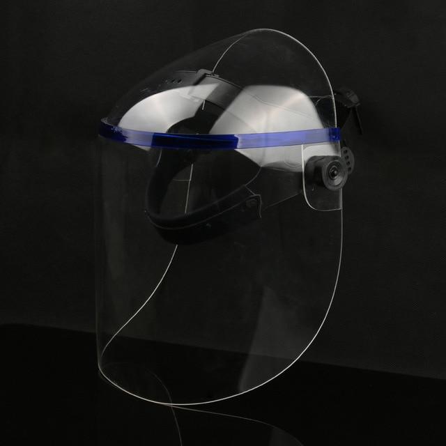 Protective Anti-shock Welding Helmet full Face Shield Solder Mask Plexiglass Face Eye Protect Shield Anti-UV Saliva Safety Masks 5
