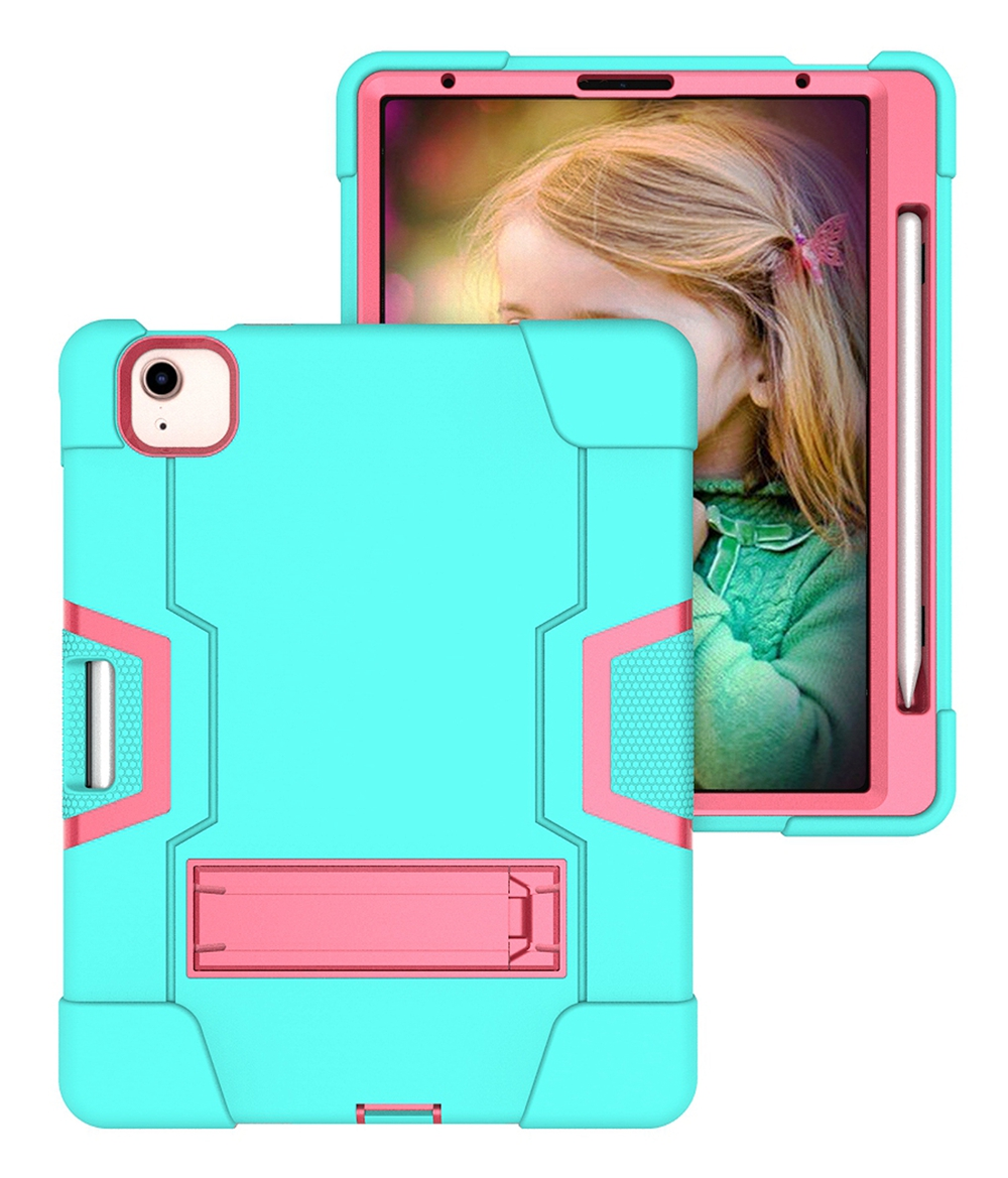 Aqua - Rose Red Pink For Apple iPad Air 4 4th Gen 10 9 inch 2020 A2324 A2072 Case Shockproof Kids