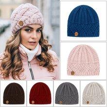 Mode Tricot chapeaux Pour Femmes Beaines hiver Respirant mode Hip-hop Gorras Simple Chapeau Chaud Solide Décontracté Dame bonnet Tricoté