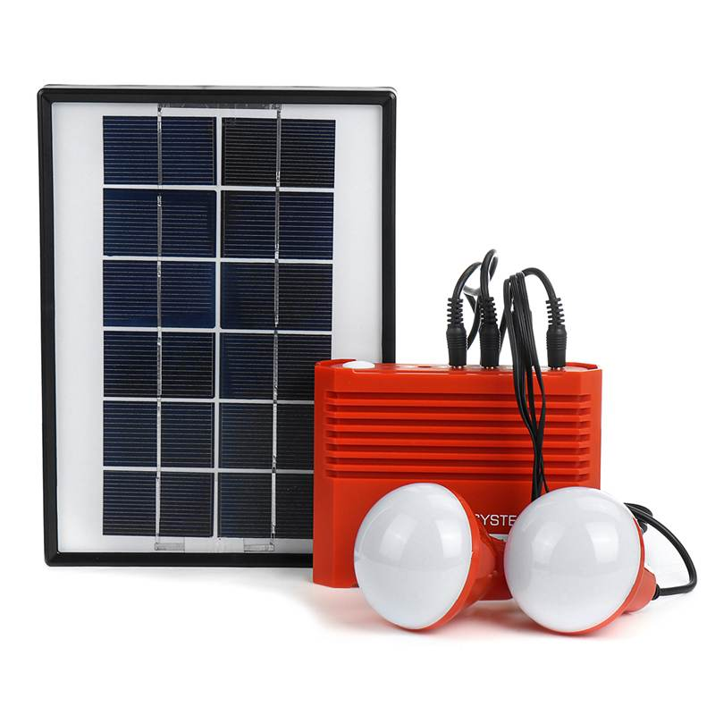Solar Powered System <font><b>3.7V</b></font> <font><b>4400mAh</b></font> <font><b>Battery</b></font> USB Portable Emergency Light Camping Solar Panel Bulb image