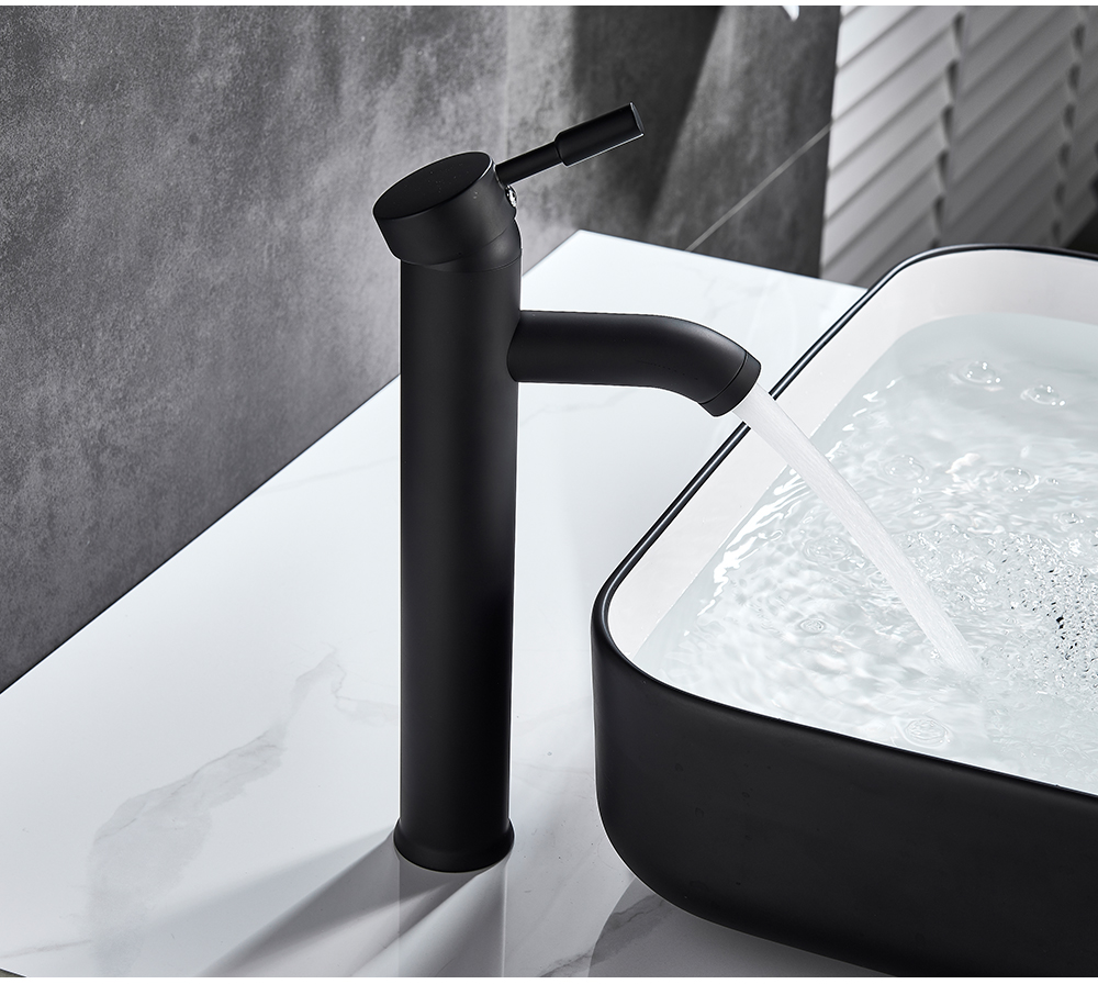 H7e5fb3dff84a43abba44a5c88cceceec9 POIQIHY Bathroom Basin Faucets Cold/Hot Mixer Basin Sink Tap Black Golden Water Kitchen Faucet Bathroom Vessel Sink Tap One Hole