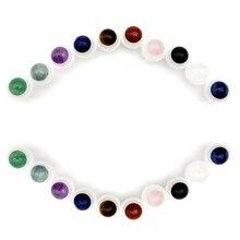 50 stücke Natürliche Edelstein Roller Ball Fit 5ml 10ml Dicken Glas Ätherisches Öl Rolle Auf Flaschen