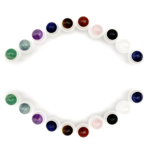 50pcs Natural Gemstone Roller Ball Fit 5ml 10ml Thick Glass Essential Oil Roll On Bottles