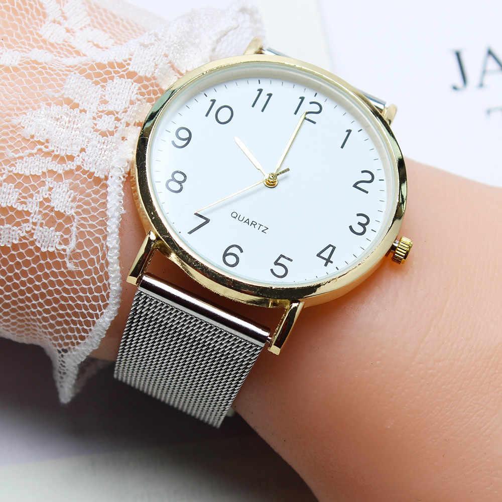 موضة بسيطة السيدات ساعة فضية الفولاذ المقاوم للصدأ النساء ساعات كوارتز سوار طالب ساعة هدية الساعات reloj mujer/d