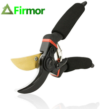 FIRMOR Professional Pruning Shears Titanium Secateurs Bypass Pruner Hand Gardening Plant Scissor Branch Trimmer Tools