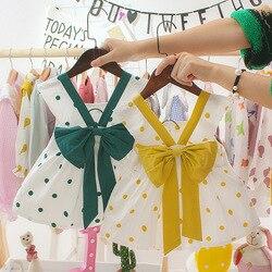 Crianças recém-nascidos polka roupas do bebê menina dot borboleta crianças vestidos para meninas de verão arco festa princesa vestido roupas arco vestido