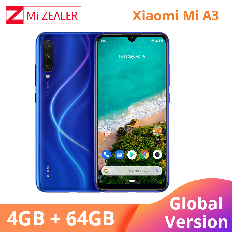 2019 Nova Versão Global Xiao mi mi A3 4GB 64GB Smartphones 4030mAh 6.088