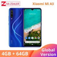 2019 nueva versión Global Xiaomi mi A3 4GB 64GB Smartphone 4030mAh 6.088 Snapdragon 665 Octa Core AMOLED pantalla 48MP Cámara
