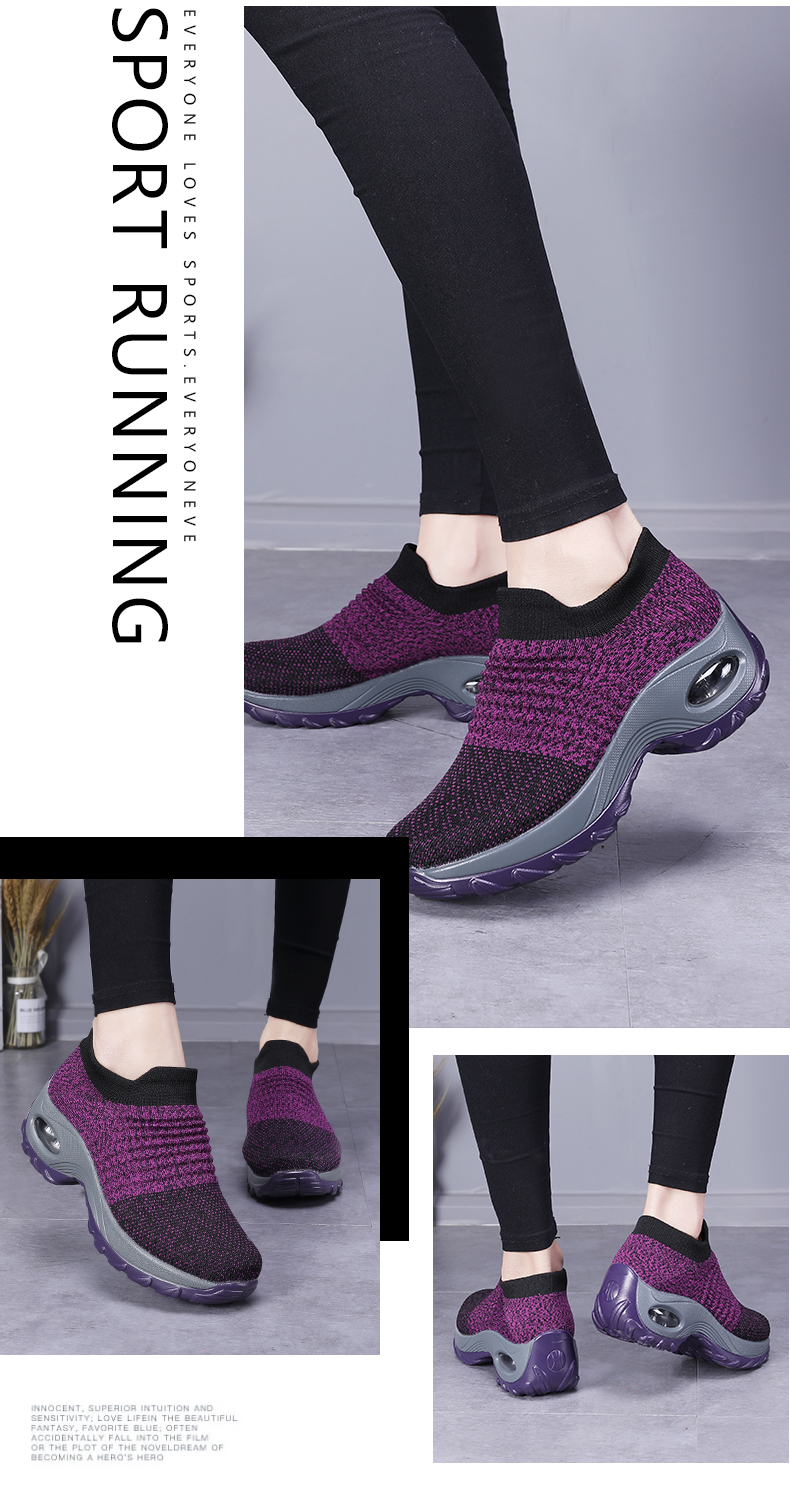 High quality outdoor running shoes women zapatos de mujer mesh air damping sneakers women scarpe donna wedges sport shoes woman