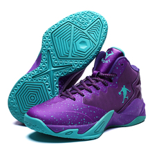 Men Basketball Shoes High-top Basketball Sneakers Unisex Street Basketball Combat Boots Training Gym Shoes 2021 Athletic Shoes cheap HOMASS CN(Origin) Medium(B M) Rubber Cotton Fabric basketball shoes for men and women 2019 Flywire Lace-Up Spring2019 Fits true to size take your normal size