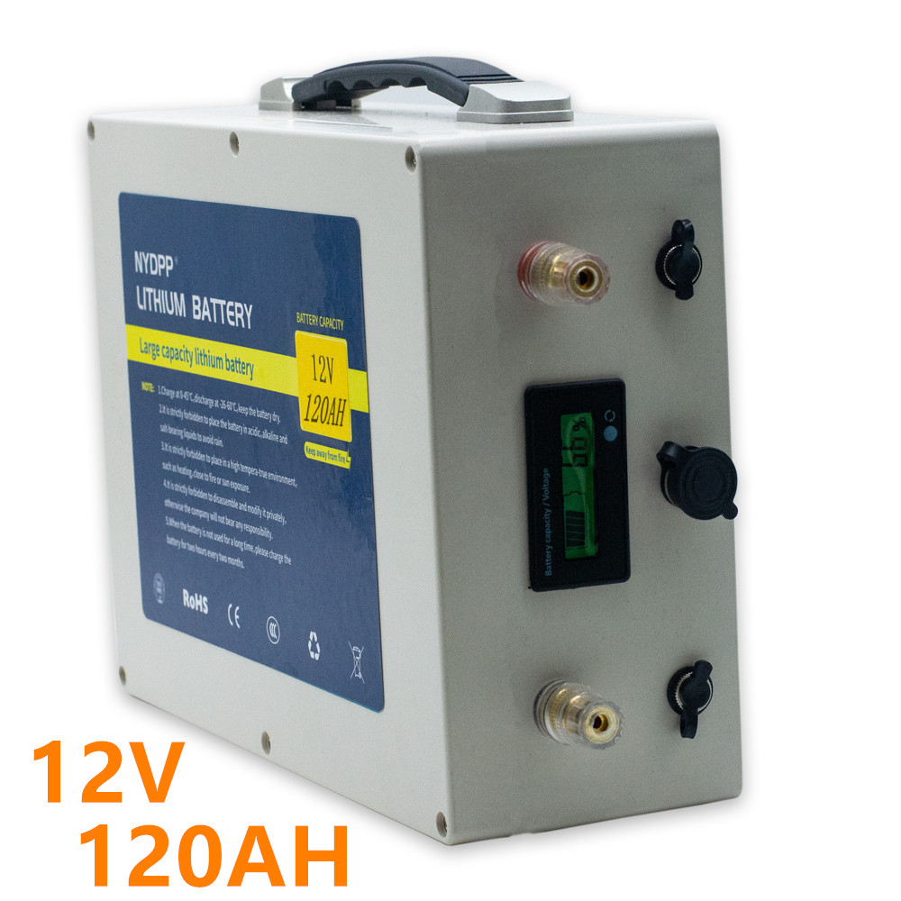 12v 120ah lithium <font><b>battery</b></font> <font><b>pack</b></font> 12V lithium ion <font><b>battery</b></font> built-in BMS for inverter,electric motor ,golf cart,solar system image