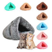 Yurt Cat Sleeping Bag Pet Rest Nest Bed Cats Cave Kennel Thickening Warm Winter House Soft Mat 8 Colors Pets Tent Basket pet house bed tent cat nest folding villa dog kennel indoor warm sleeping mat soft yurt winter puppy cave sofa pet supplies