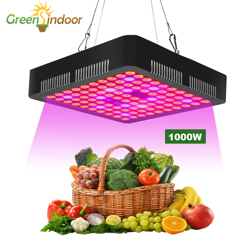 1000W LED Grow Light 5850LM Full Spectrum Growth Vegetation And Flowering Lamp For Plant LED Lights For Indoor Growing Tent Box
