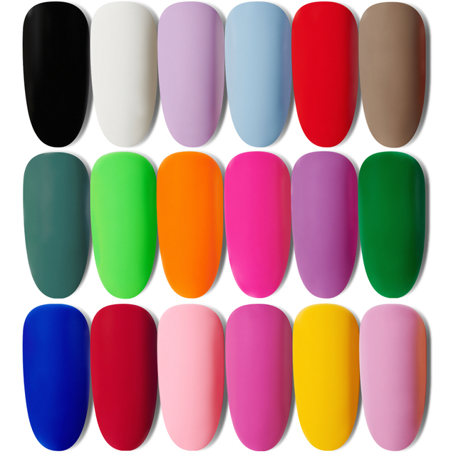 MORDDA 8 ML Gel Nail Polish Gel Varnish Semi Permanent UV LED Gel Nail Lacquer Soak Off Hybrid Gel Painting Need Matte Top Coat 1