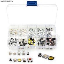 Assortiment de 10 boutons tactiles, 100 ou 250 pièces, pour télécommande de voiture