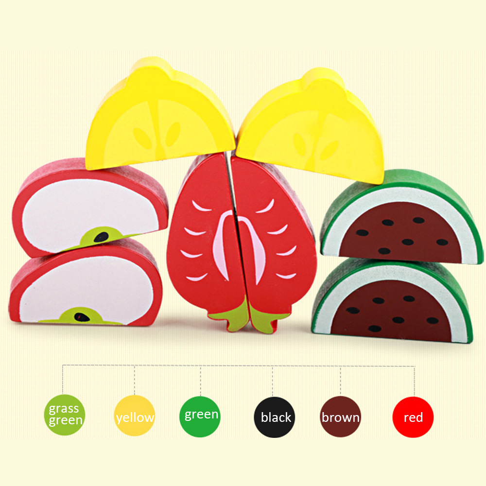 Kitchen Toys Pretend Play Wooden cutting Food game real life toy fruit vegetables board kid children Educational baby toys in Kitchen Toys from Toys Hobbies