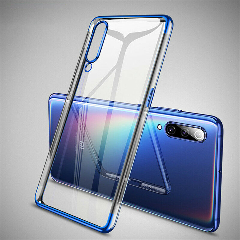 Ultra Slim <font><b>Phone</b></font> <font><b>Case</b></font> For Xiaomi Pocophone F1 Glossy Plating TPU Cover For Xiaomi Mi A1 A2 A3 8 9 Lite Pro 8SE 9SE CC9 CC9E image