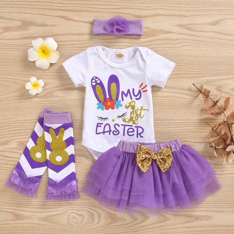 3pcs Newborn Baby Girl Clothes Leopard Romper Tops Skirt Tutu Dress Outfits UK