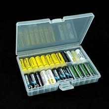 תא סוללות מחזיק פלסטיק מקרה נייד סוללה מקרה מחזיק תיבת אחסון עבור AA & AAA סוללה נטענת מלא כיסוי
