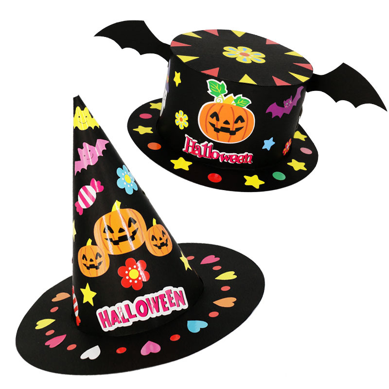 Kindergarten Lots Arts Crafts Diy Toys Puzzle Halloween Hat Crafts Kids Educational For Children's Toys Girl/boy Christmas Gift
