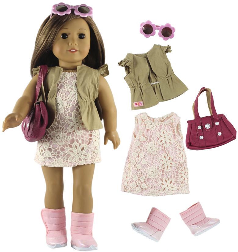 American Girl 4Pcs Diving Accessories fit 18-inch Dolls