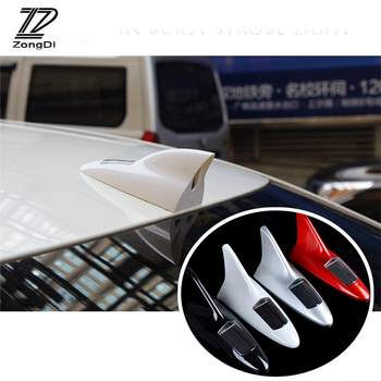 ZD Car Warning LED Antenna Decoration Shark Fin Aerials For Mercedes W203 W211 W204 W210 Benz BMW F10 E34 E30 F20 X5 E70 image