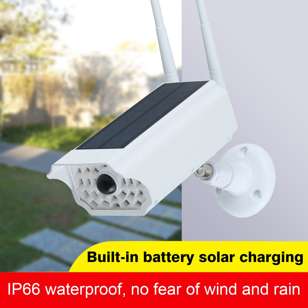 Solar LED Light Dummy Security Camera IP65 Waterproof PIR Motion Sensor Outdoor CCTV Fake Surveillance Simulation Camera New2020