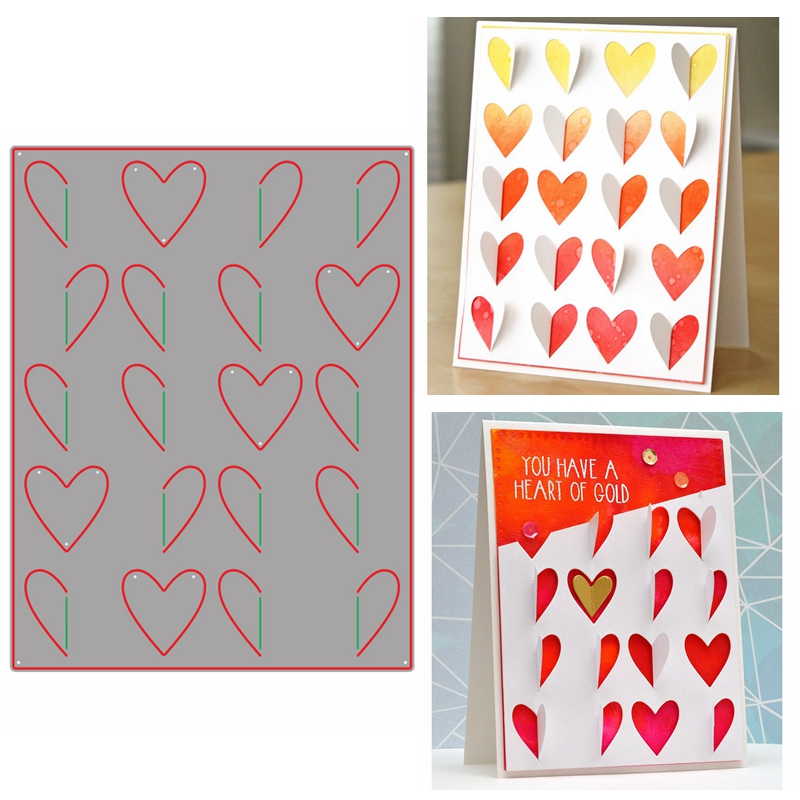 Love Heart Background Frame Style Metal Cutting Dies For DIY Scrapbooking Crafts Paper Cards Making Template Dies 2019 New