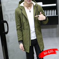 2019 Winter Jacket Men Hooded Slim Korean Hombre Long Jacket Coat Cashmere Men Windbreaker Thicken Jackets Cotton Youth Clothing
