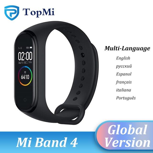 Neue Ursprüngliche Globale Version Xiaomi Mi Band 4 Multi Sprache Armband Fitness Armband Herz Bluetooth 5,0 Wasserdichte Smart Band