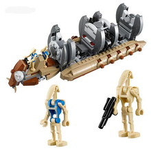 565pcs Star Battle Droid Troop Carrier Space Ship Model Set Building Blocks Toys for Kids Gifts lepin 05052 star battle series 1068pcs star battle empire at st blocks bricks model building kit blocks lepins toy clone 75153