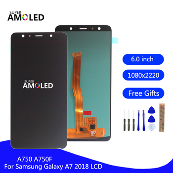 Original Amoled For Samsung Galaxy A7 2018 A750 A750F SM-A750F A750FN A750G LCD Display Touch Screen Digitizer Assembly Display tft a750 lcd for samsung galaxy a7 2018 lcd sm a750f a750f a750 display with frame touch screen digitizer replacement parts