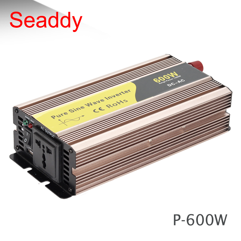 P 600 Variable frequency 600w 12v 24v to 220v 50hz 60hz pure sine wave psw