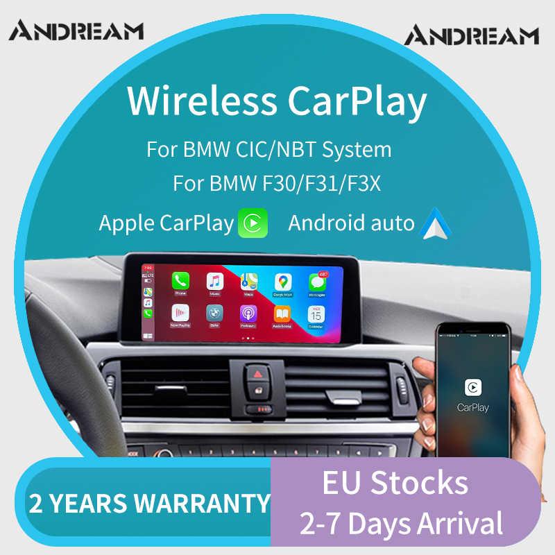 ワイヤレスapple carplay androidの自動インタフェースアダプタボックスbmwシリーズ 1 2 3 4 5 7 ミニX1 X3 x4 X5 X6 X7 cic/nbtシステム