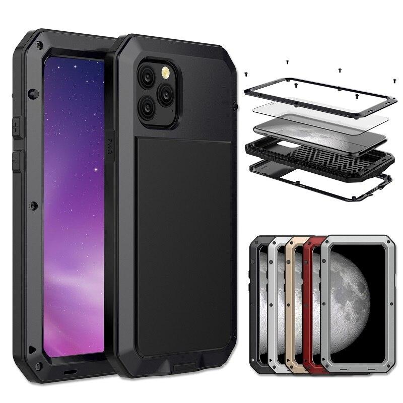 Бронированный чехол с полной защитой 360 для iphone 11, противоударный металлический алюминиевый чехол для больших нагрузок для iphone 11 pro max, чехол