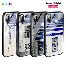 Black Cover Star wars R2D2 for iPhone X XR XS Max for iPhone 8 7 6 6S Plus 5S 5 SE Super Bright Glossy Phone Case чехол для iphone 5 iphone 5s iphone se deppa art case star wars изгой вейдер 2