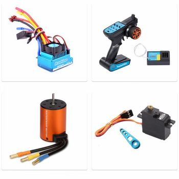 1Set 120A Brushless Motor ESC Remote Control Transmitter Receiver Metal Steering Gear Arm for Wltoys XKS 144001 1/14 RC Car image
