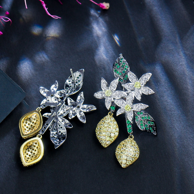 Prom Long Leaf Earrings