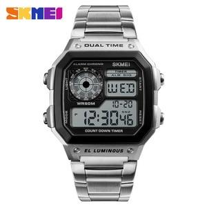 Business Men Fashion Casual Electronic Wristwatches Waterproof Clock Relogio Masculino Digital Dual Time Sports Watches