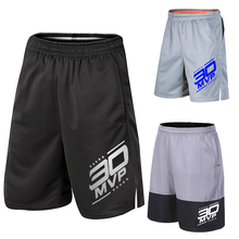 Number 30 Men Basketball Shorts Sports Running Breathable Shorts With Pocket Summer Athletic Men's Shorts