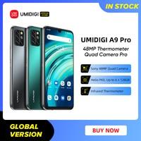 UMIDIGI A9 Pro SmartPhone Unlocked 32/48MP Quad Camera 24MP Selfie Camera 4GB 64GB/6GB 128GB Helio P60 6.3 1
