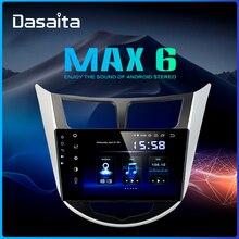 "Dasaita 1 Din Car Radio 안드로이드 9.0 현대 Verna Solaris I25 2010 2011 DSP 9 ""멀티 터치 스크린 GPS 스테레오 MP3 64GB ROM"