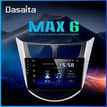 """Dasaita 1 Din Radio samochodowe Android 9.0 dla Hyundai Verna Solaris I25 2010 2011 DSP 9 """"wieloekranowy wyświetlacz dotykowy GPS Stereo MP3 64GB ROM"""