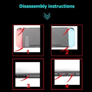 Image 4 - Alloyseed reparação/substituição parte host voltar escudo kickstand suporte kit para nintend switch game console ns