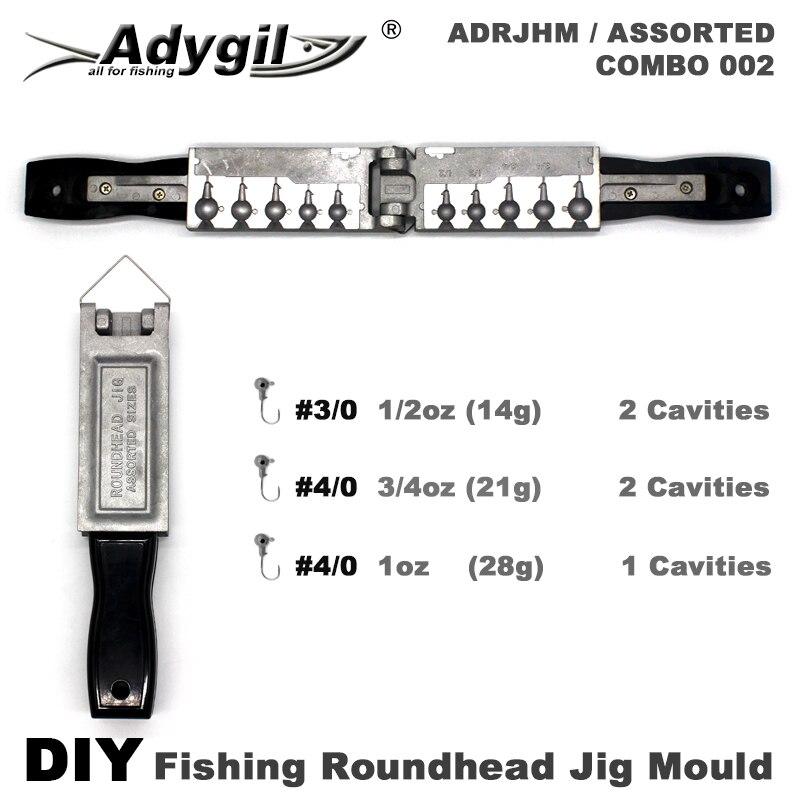 Adygil DIY рыболовные Круглоголовые джига плесени ADRJHM/разные комбо 1/32 унций, 1/16 унций, 1/8 унций, 1/4oz, 5/16 унций, 3/8 унций, 1/2oz 7 стаканчики для минеральных водов|Рыболовные снасти|   | АлиЭкспресс